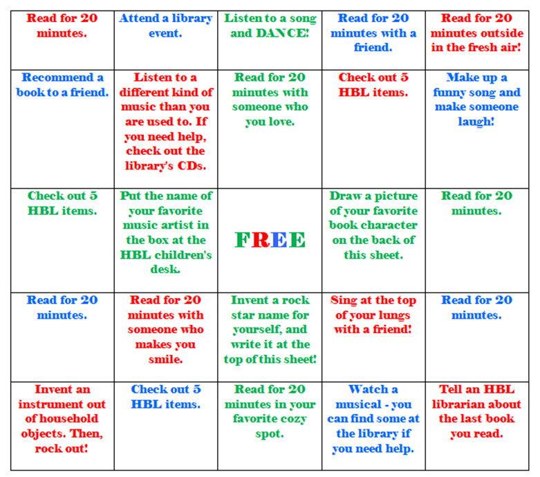 Reading rock star shelton library system bingo card solutioingenieria Images