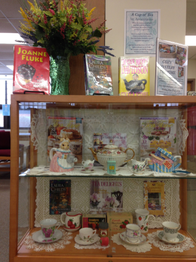 Cozy Mystery Group - Tea Time display